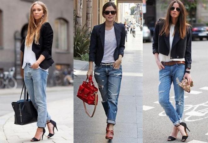 С чем надеть джинсы