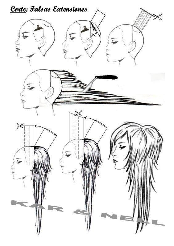 Техника стрижки на длинные волосы